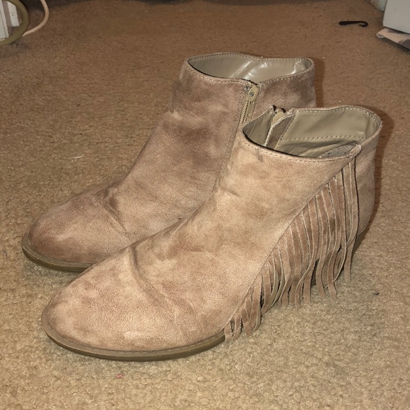 93f7b709cba American Eagle By Payless Shoes - American Eagle Ankle Booties Fringe 11